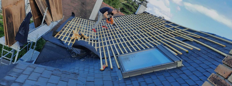 nettoyage d'un toit avec le karcher